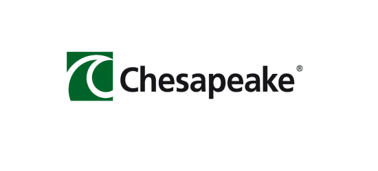 logo: PARTNER:<br><br>Chesapeake Polska