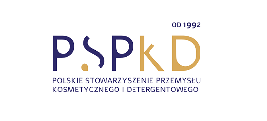 logo: PATRONAT HONOROWY: <br><br> Polskie Stowarzyszenie Przemysłu Kosmetycznego i Detergentowego