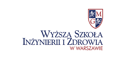 logo: PATRONAT HONOROWY: <br><br> Wyższa Szkoła Inżynierii i Zdrowia