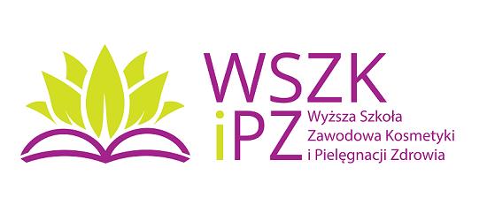logo: PATRONAT HONOROWY: <br><br> Wyższa Szkoła Zawodowa Kosmetyki i Pielęgnacji Zdrowia