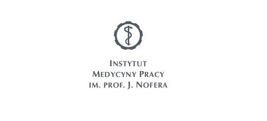 logo: PATRONAT MERYTORYCZNY:<br><br>Instytut Medycyny Pracy Im. Prof. J. Nofera